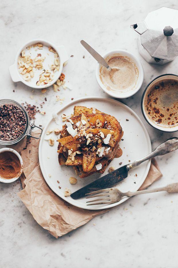 Bananentoast zum Frühstück