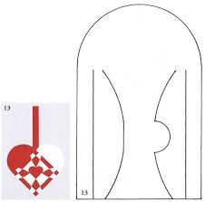 Great template for a Danish Christmas Heart decoration!