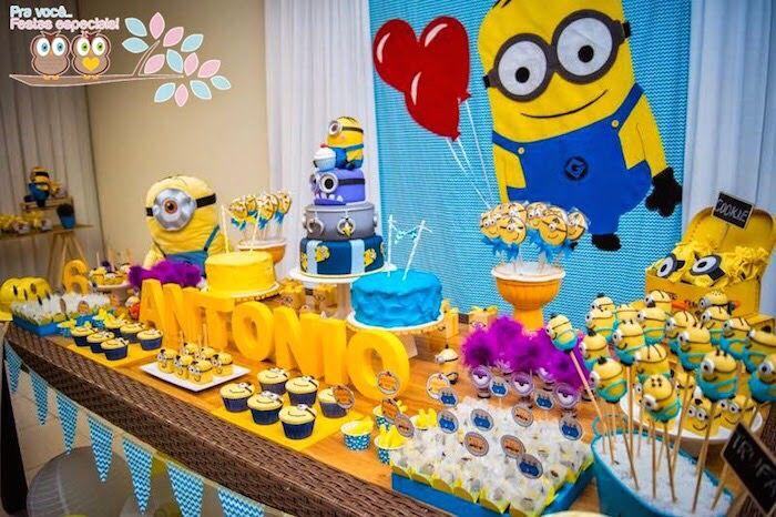 Mesa de dulce para fiesta de los minions | Tips e ideas ...