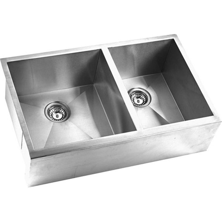 double farmhouse sink dimensions