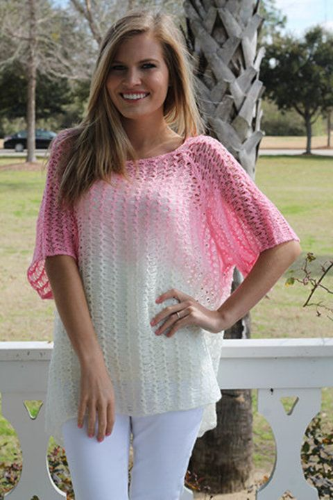 Dip Dye Top, Pink - The Mint Julep Boutique