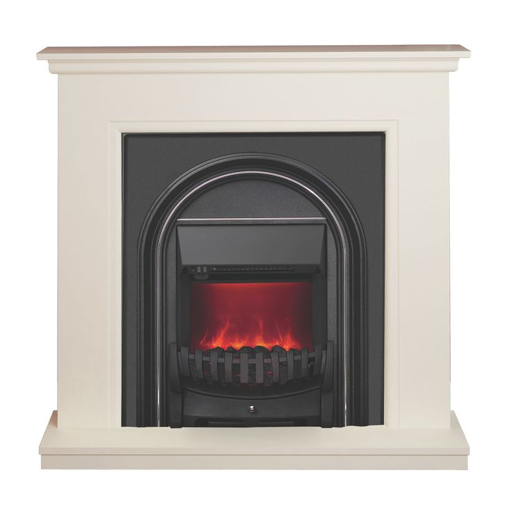 Be Modern Colville Soft White & Anthracite LED Electric Fire Suite   Departments   DIY at B&Q