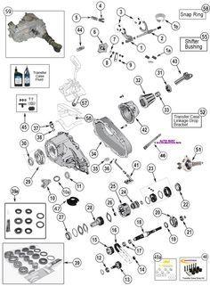 NP 231 Transfer Case Parts for Wrangler TJ, YJ, Cherokee XJ, Grand Cherokee ZJ at Morris 4x4