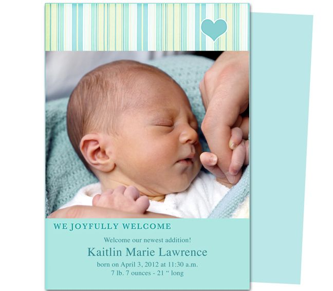 Sweet jammies baby birth announcements template printable for Free online birth announcements templates