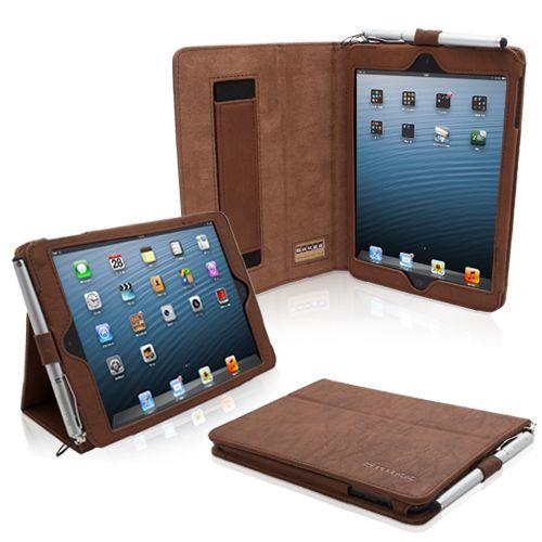 Snugg iPad mini fodral med vikställ i brunt läder | iPad Fodral - TheSnugg.com Sverige
