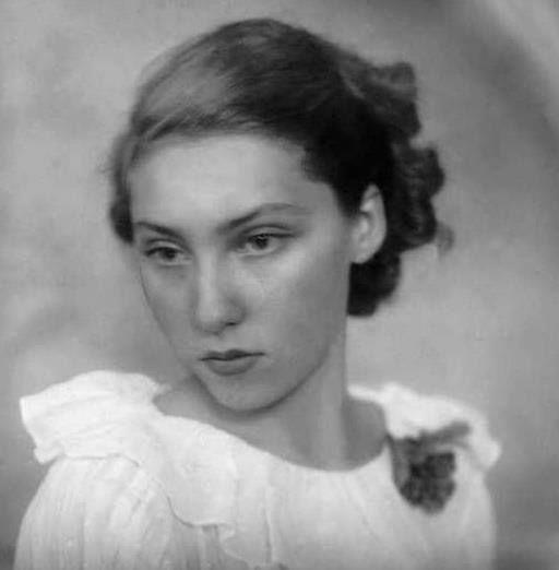 A jovem Clarice Lispector.