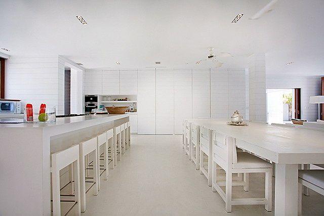 Superb all white modern kitchen.