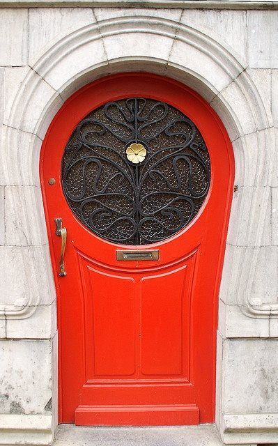 Red statement door