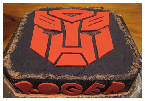 transformers birthday cake toppers