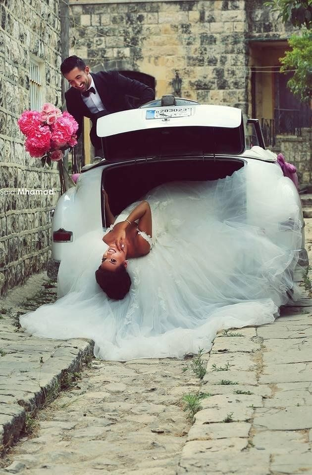 Bride of the boot;) #wedding #car #bride #photo shoot #young couple #wedding session