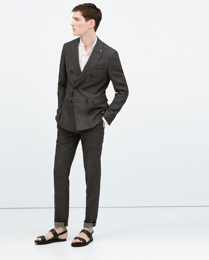 Image 1 of Double breasted suit from Zara