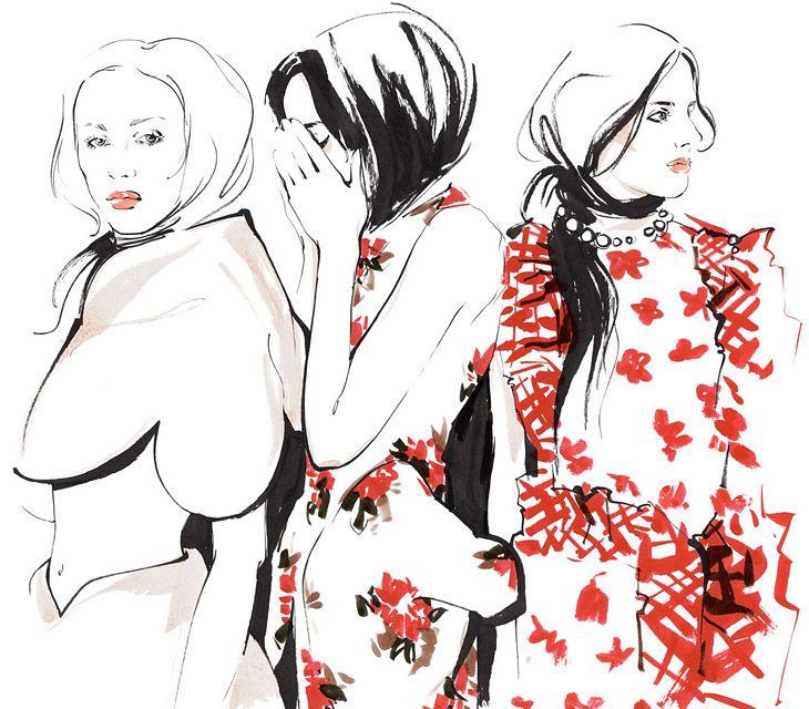 Алена Лавдовская зарисовала самые яркие моменты Недели моды в Лондоне. Результатом стала невероятно трогательная серия иллюстраций в розово-лиловой гамме
