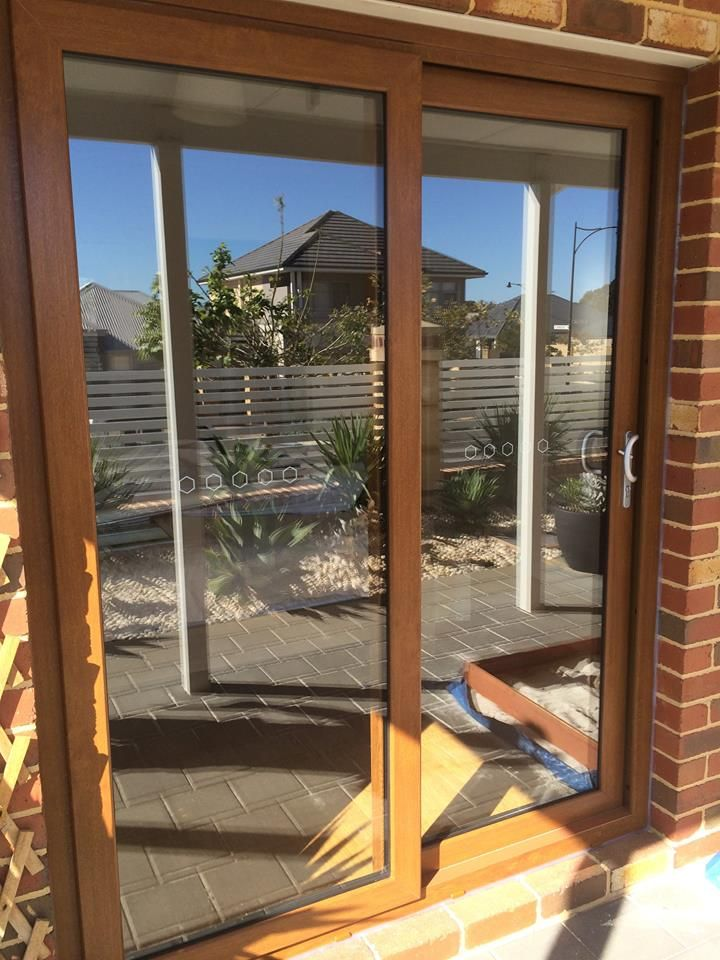 See old rotten timber French doors replaced with our UPVC Golden Oak colour UPVC frames. French doors converted to sliding doors to keep the noise out. Let us do the same for you.  FREE Quotes - Call 1800 822 207 #frenchdoors   #upvcframes   #upvcwindows   #perth