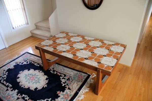 teak and tile coffee table 1974 | Mid century modern ...