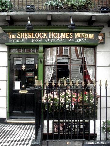 The Sherlock Holmes Museum at 221B Baker Street, London -- It is brilliant. Some of the figures are a bit strange, but I believe they were made in the early 90's. But the books and the decor...it was enough to satisfy me completely. I just wish there weren't so many tourists without a sense of personal space or patience; they left little time for soaking it all in.