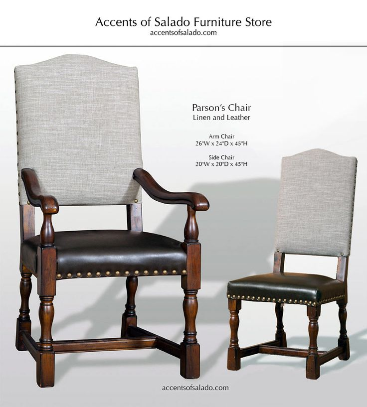 Dining Chairs Old World Parsonu0027s Collection: Linen U0026 Leather Dining Chairs  For Old World Interiors At Accents Of Salado. | Tuscan Decor Dining Room ...