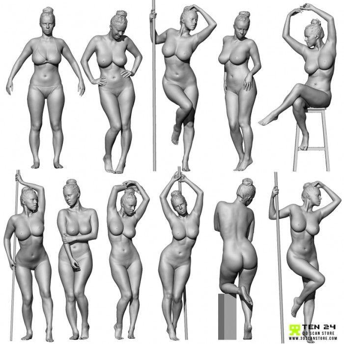 Female 03 Life Model Bundle + Render Scene