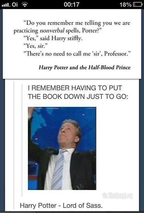 Harry Potter LORD OF SASS