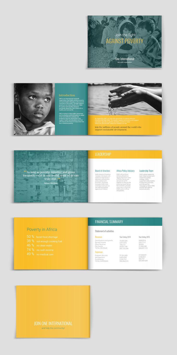 fundraising  u0026 charity brochure template