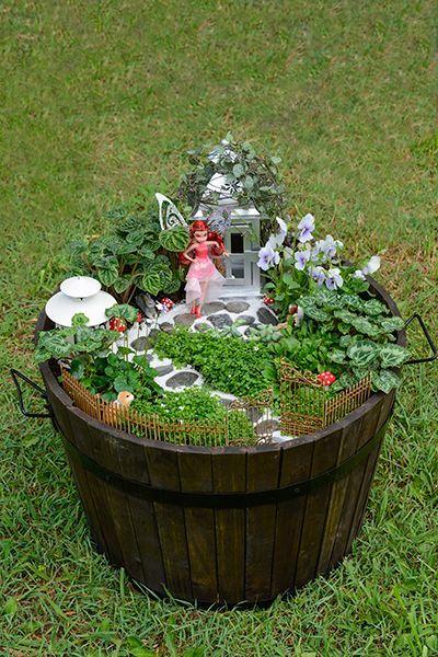 25+ Unique Large Fairy Garden Ideas On Pinterest