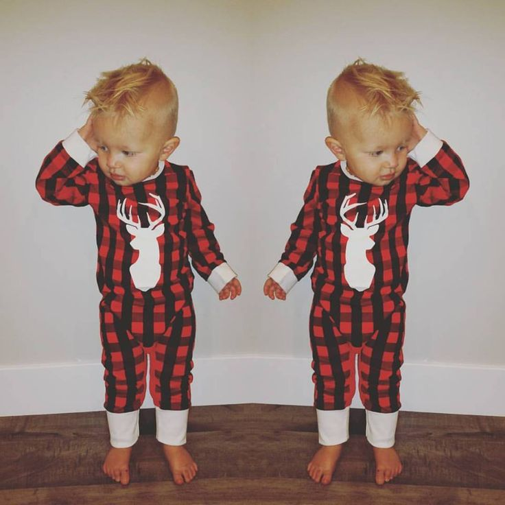Trendy Christmas Jammies for little children.  Buffalo Plaid pajamas.  Christmas Pajamas.