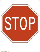 free printable road signs