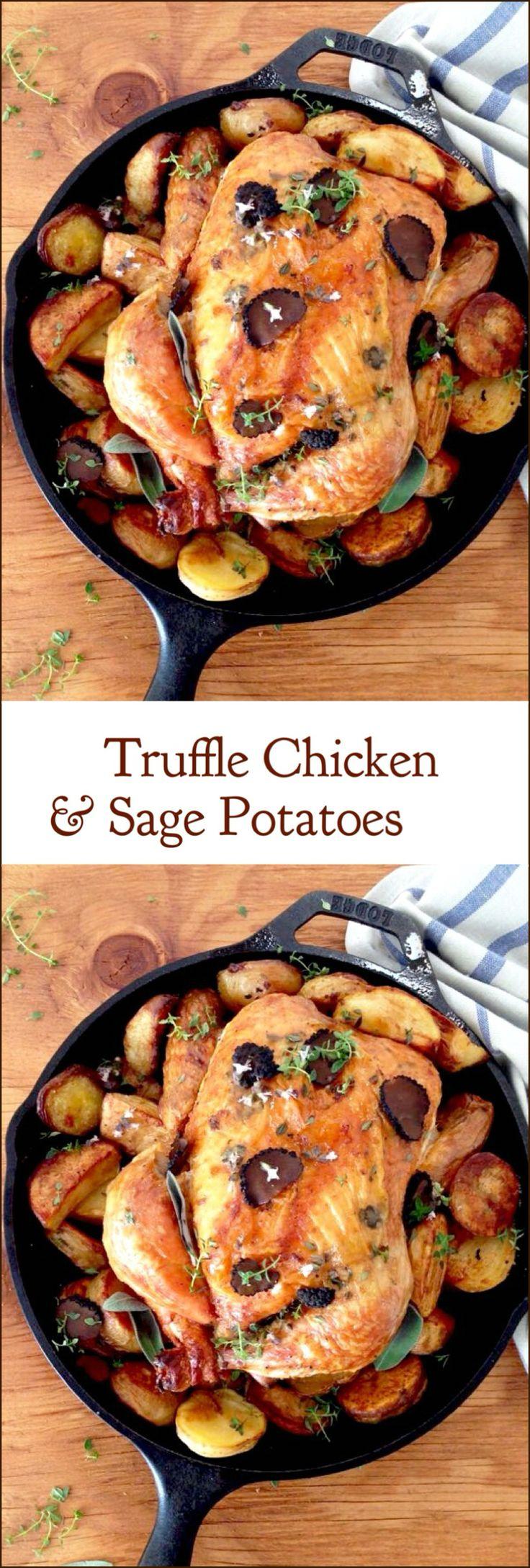 Roasted Truffle Chicken and Sage Potatoes Recipe | CiaoFlorentina.com @CiaoFlorentina