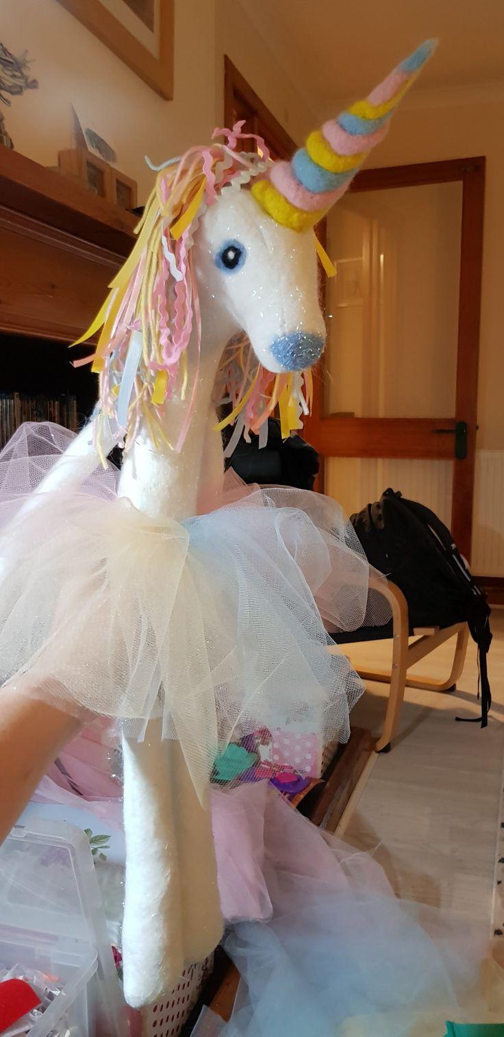 Felt and needle felt unicorn