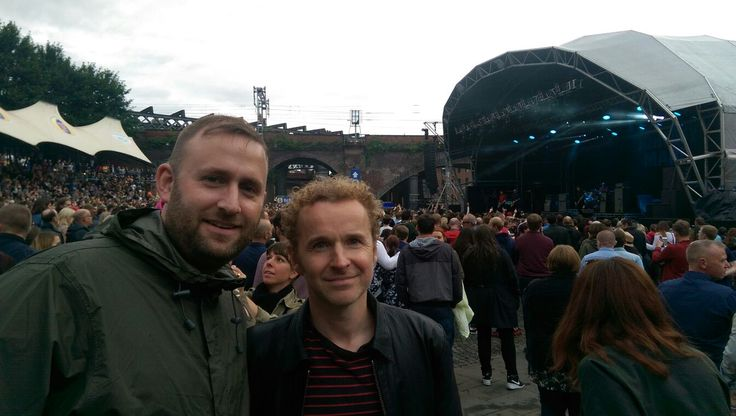 Black Rivers (Andy Williams) after supporting Noel Gallagher in Castlefield
