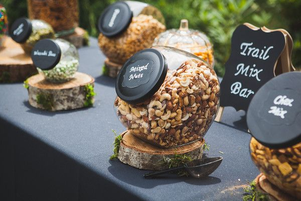 Unique wedding food idea - trail mix bar! {Hannah Wahl Photography}