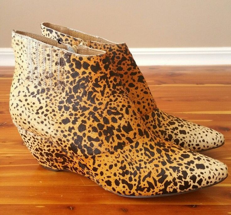 Matisse Nugent Wedge Booties Leopard 9.5 Boot Zip Calf Hair EXCELLENT! | Clothing, Shoes & Accessories, Women's Shoes, Boots | eBay!