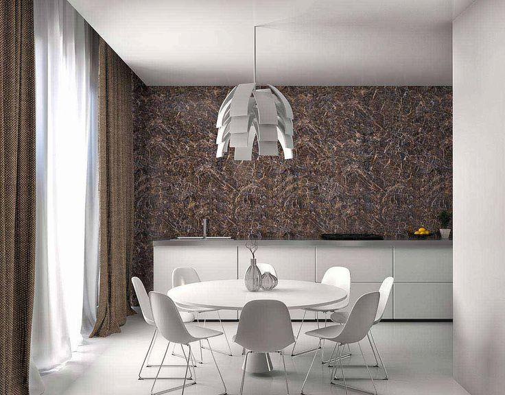 Белая мебель для столовой с коричневыми шторами: купить всё необходимое и получить консультацию дизайнера вы можете в Центре дизайна и интерьера 'ЭКСПОСТРОЙ на Нахимовском'