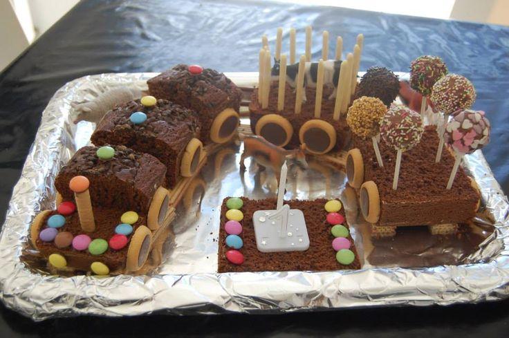 cake au chocolat petit train