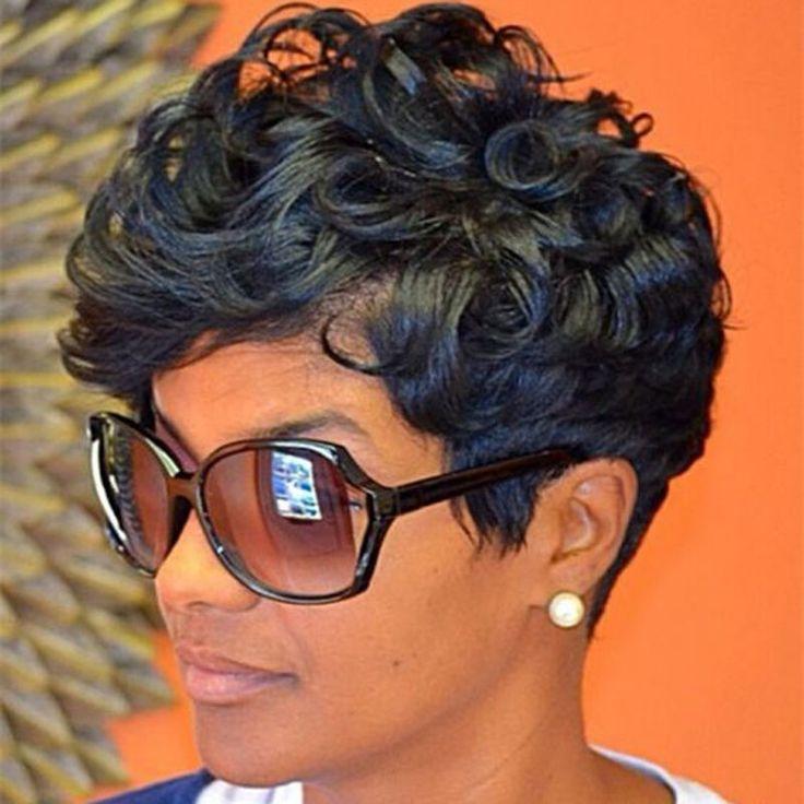 ショートカーリーかつら黒人女性ナチュラル女性のかつら高品質アフリカアメリカ短いかつらショートカーリーヘアスタイル黒かつら