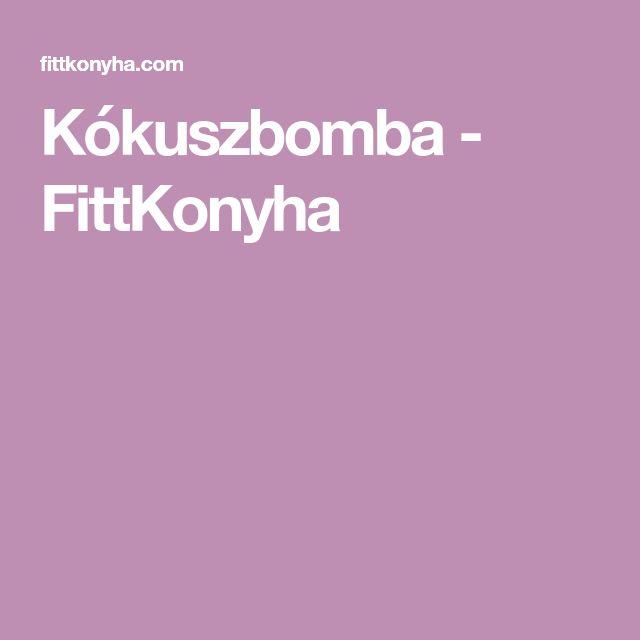 Kókuszbomba - FittKonyha