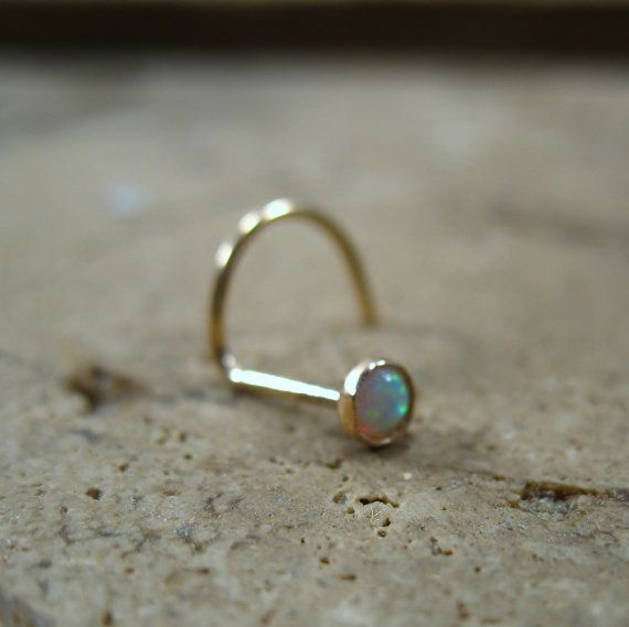 Hey, I found this really awesome Etsy listing at https://www.etsy.com/listing/217891242/gold-white-opal-nose-screw-3mm-gold-nose