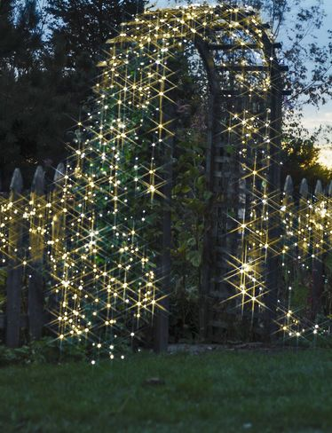 add the magic of light anytime anywhere with these battery operated string lights with 200 warm white led bulbs in a string
