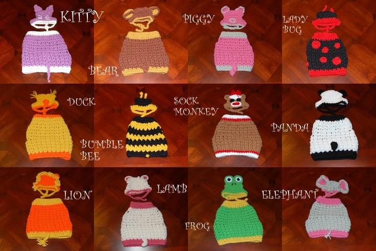 Crochet Pattern- Dog Animal Sweater and Hat sets (Choose ...