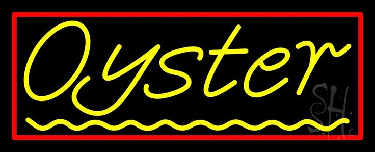 Oysters Green Line 1 Neon Sign