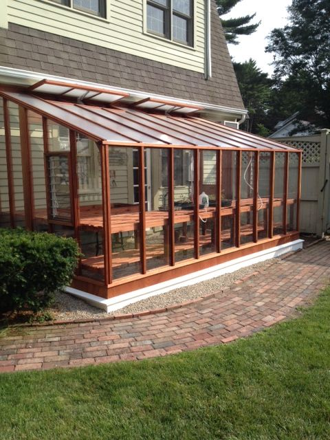 8 x 16 Deluxe glass to ground Lean-to greenhouse