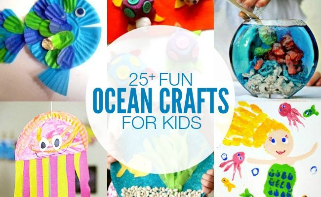 Looking for fun activities for your kids this Summer? Check out these 25+ Ocean Themed Crafts for Kids!