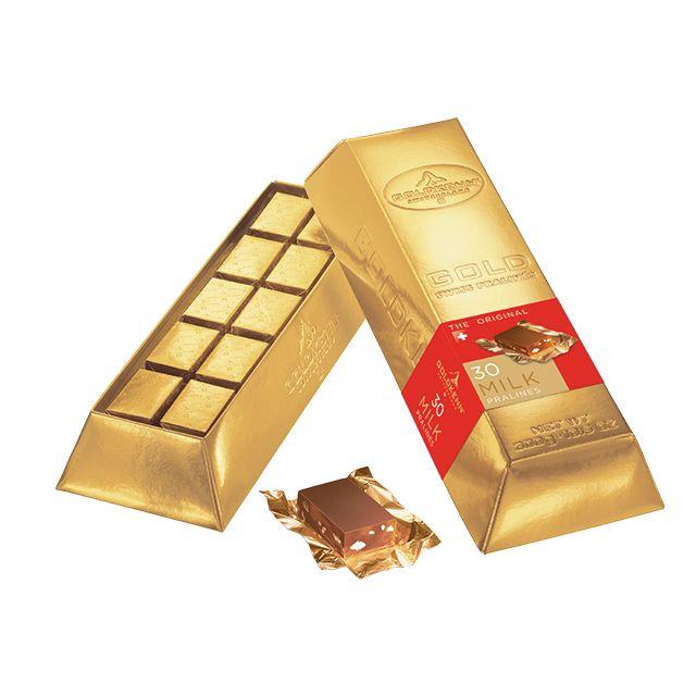 Goldkenn Swiss Goldbar Milk Pralines