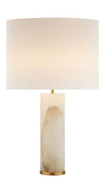 "LINEHAM TABLE LAMP, 29.5""h x 18""w x 4.5""round base, shade 18""x18""x12.5"", wattage 2 - 60 watt Type A, socket: keyless with dimmer, alabaster $714"