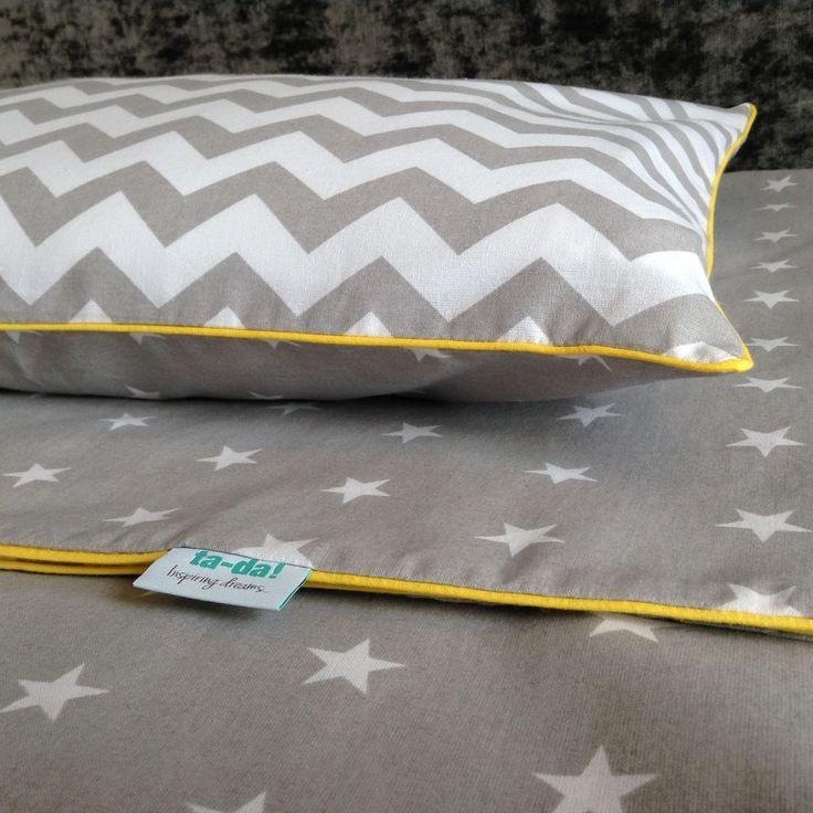 100% Cotton cot bed duvet cover set boys bedding grey stars and chevron in Baby, Nursery Bedding, Nursery Bedding Sets | eBay