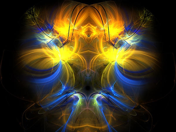 Spa of life - Fractal art canvas print. For sale on FAA.