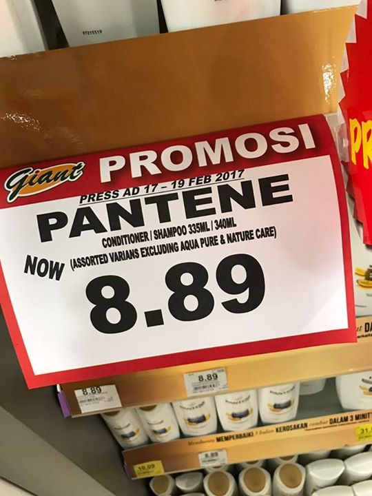 """Pantene Shampoo 340ml RM8.89 Cheapest at Giant today!  Save up to RM6 per pack when you compare at SmartShopper first before deciding """"Where To Shop Today?""""  Count on SmartShopper App to always bring you the best price on your favourite grocery items and save, Save, SAVE!  Compare and save now, download here: smartshopper.my/get #fashion #style #stylish #love #me #cute #photooftheday #nails #hair #beauty #beautiful #design #model #dress #shoes #heels #styles #outfit #purse #jewelry #shopping…"""