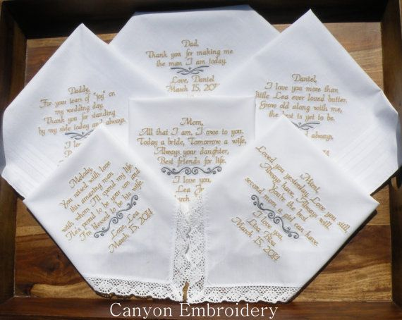 Wedding Handkerchiefs For The Family: 17 Best Images About Family, Wedding Gifts On Pinterest