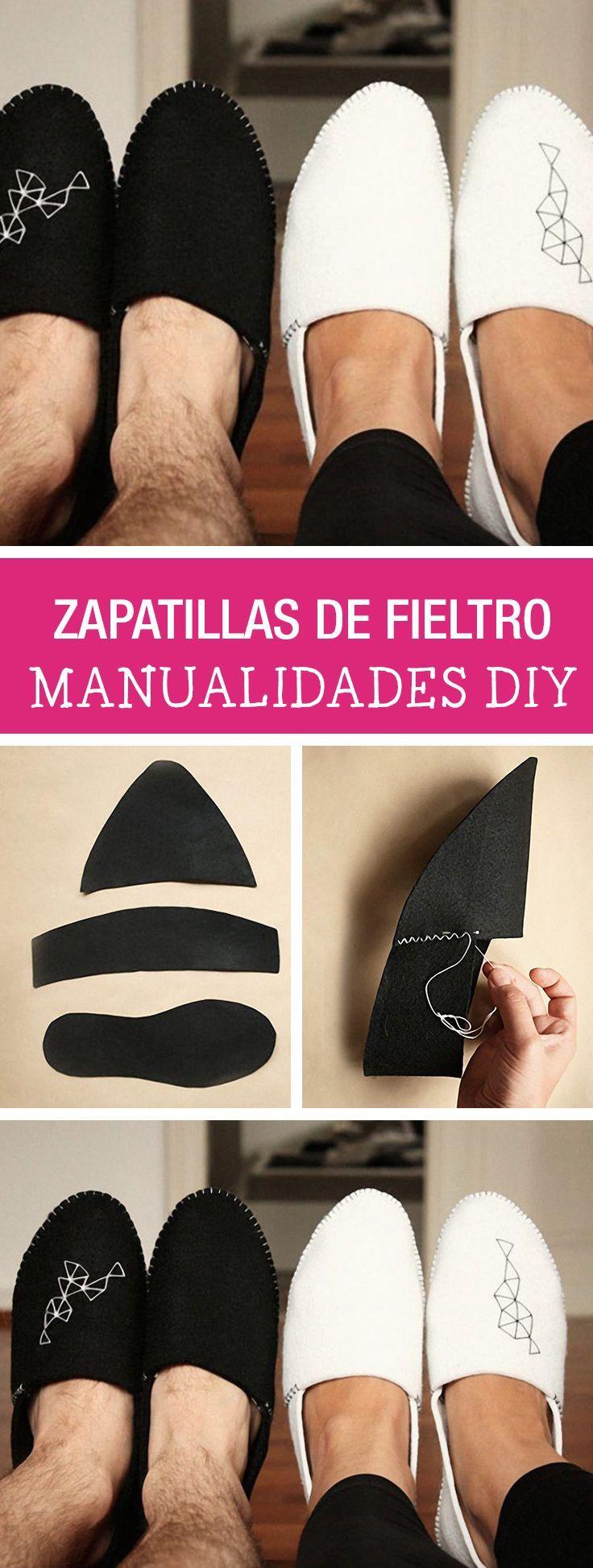 Tutorial DIY - CÓMO HACER UNAS ZAPATILLAS PARA ESTAR POR CASA DE FIELTRO en DaWanda.es
