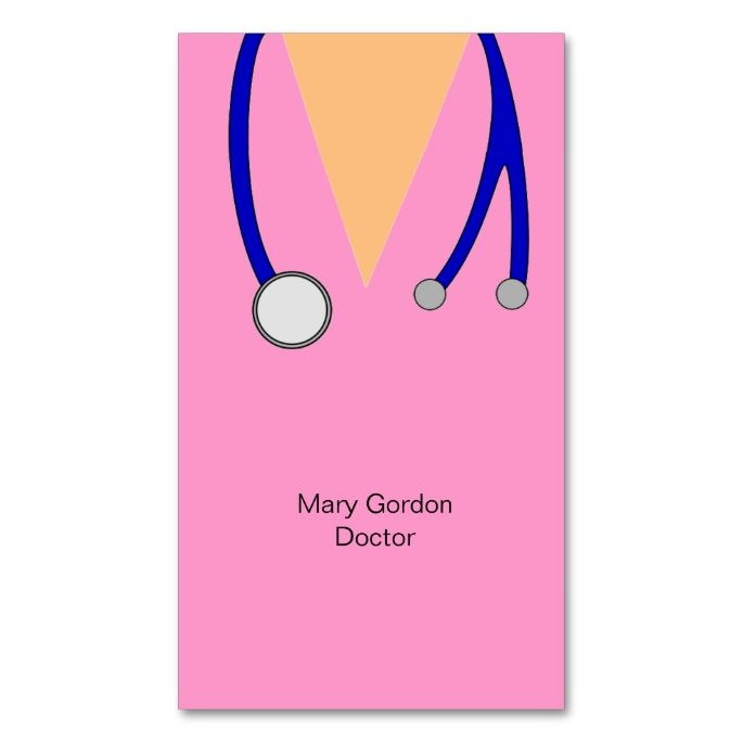 Funny Pink Scrubs And Stethoscope Medical Doctor Double