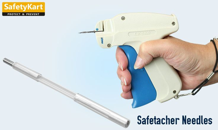 The no-touchneedle design offers a safe storage system for shipping, removal, replacement and disposal of used needles that work with the Safetacher Tag Tool.